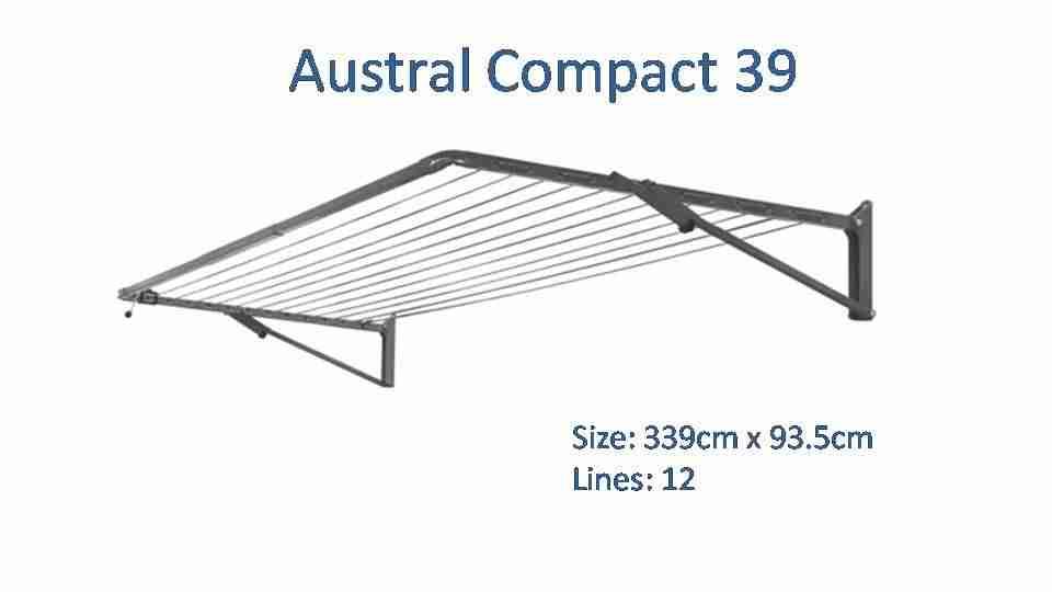 320cm wide clothesline