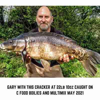 Gary with a Carp Caught using C Food Boilies