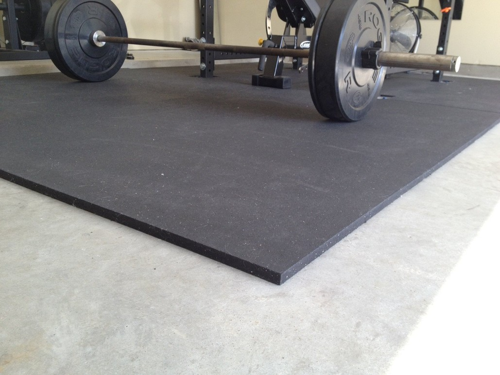 Rubber flooring 1metre x 1metre Mat 15mm