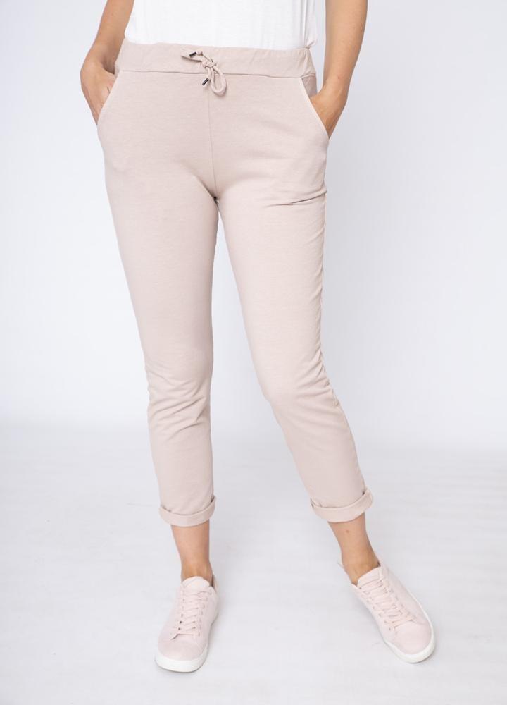 Drawstring Side Pocket Trouser Pink