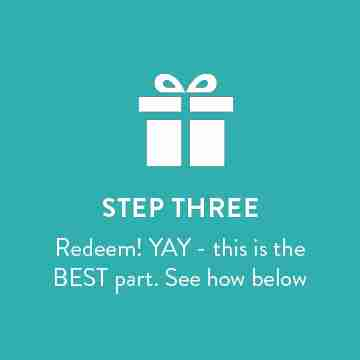 Step three - Redeem points!