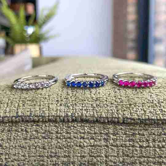 Three colorful decorative rings