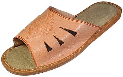 Topher Mens bedroom slippers - Reindeer leather