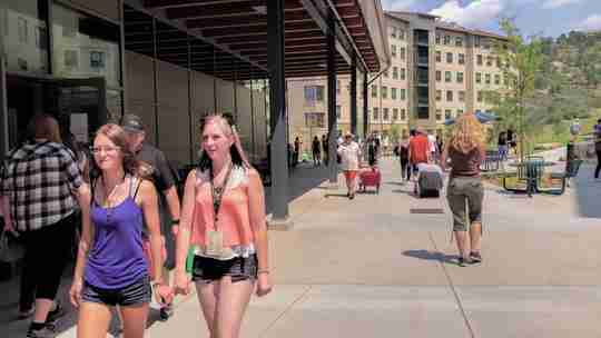 Students moving into the dorms at the University of Colorado, Colorado Springs