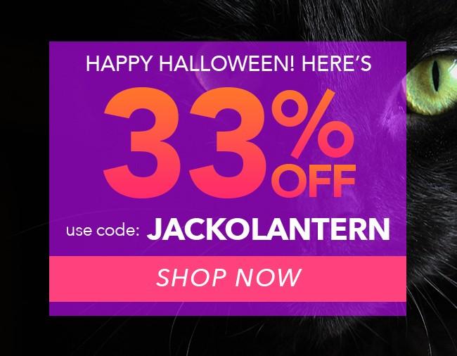 Treat! - 33% off using the code JACKOLANTERN