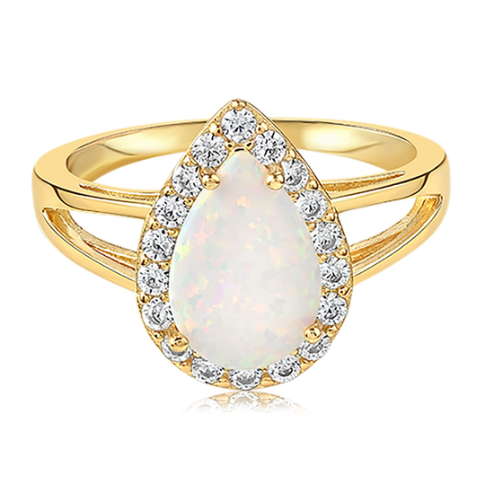 The White Fire Champagne Oval Ring