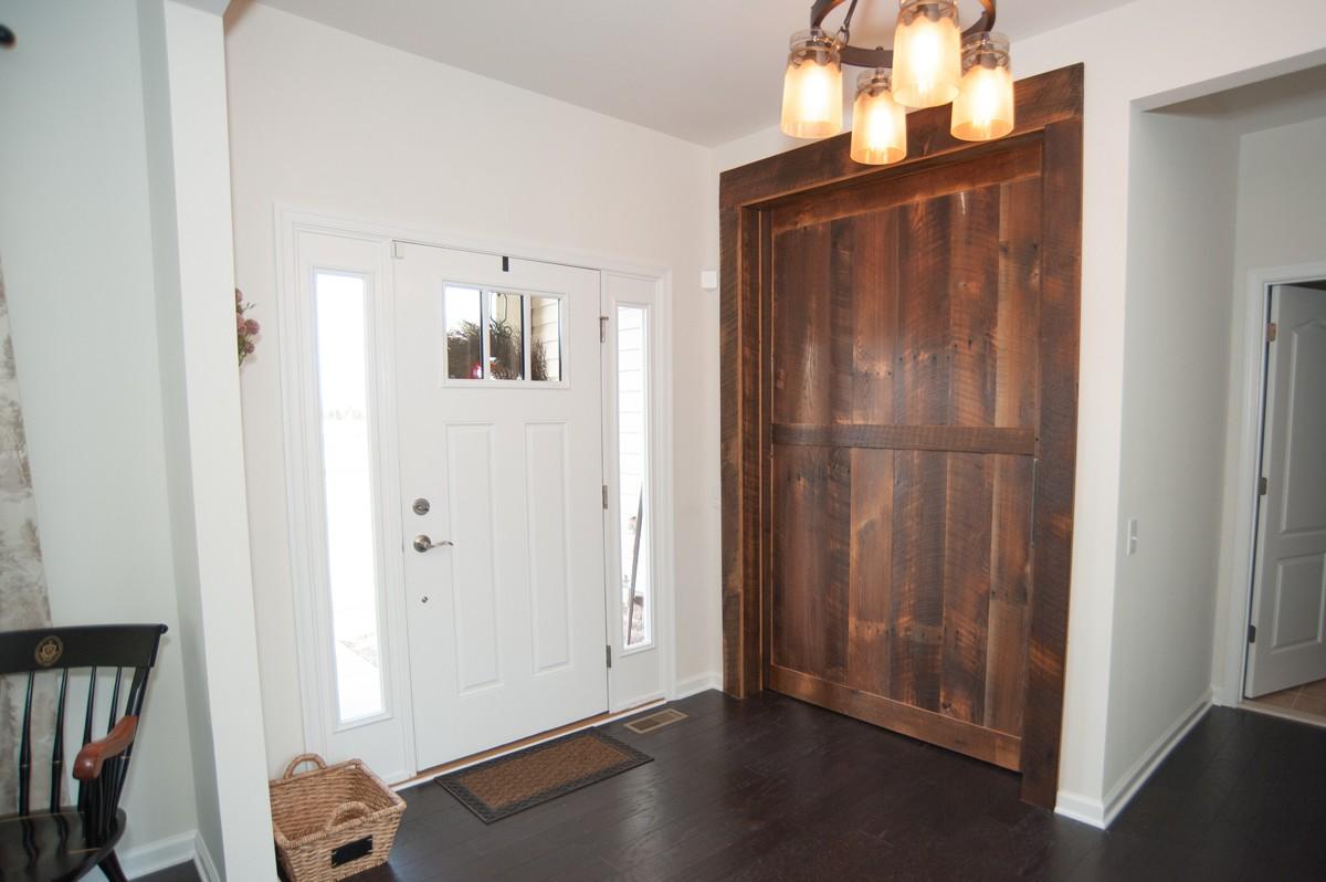 rustic barn door for office