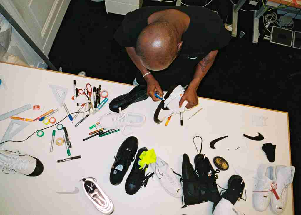 Virgil Abloh working on