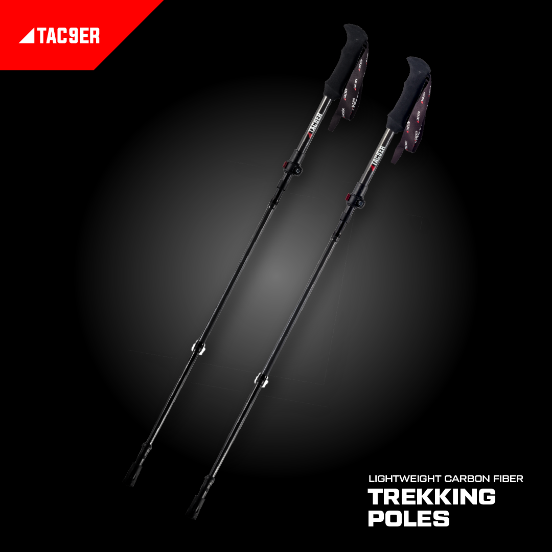 TAC9ER Ultralight Carbon Fiber Adjustable Trekking Poles
