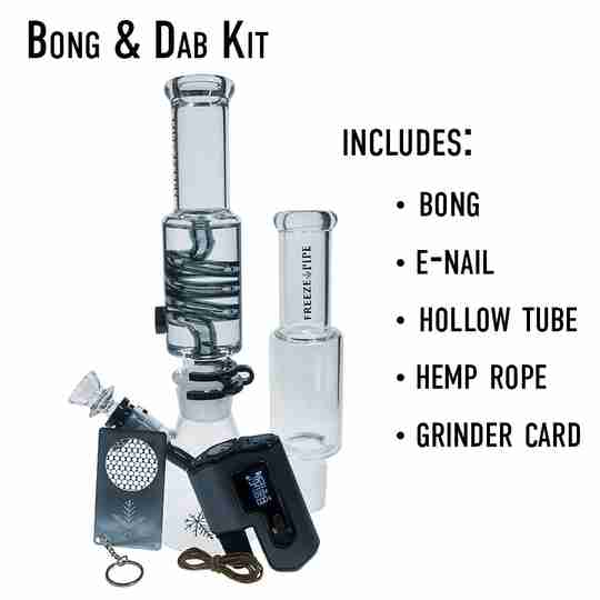 Freeze pipe bong dab kit