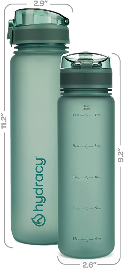 Moonlight Green Water Bottle 17oz - Size