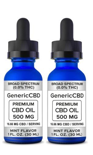 2 Bottle (500 MG CBD Each) CBD Oil Drops. (Mint Flavor)
