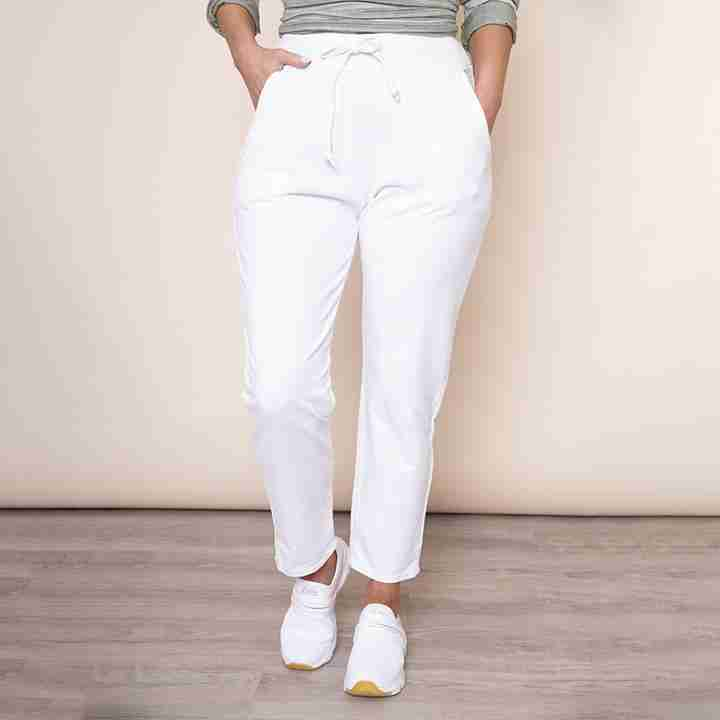 Drawstring Jersey Trouser(White)