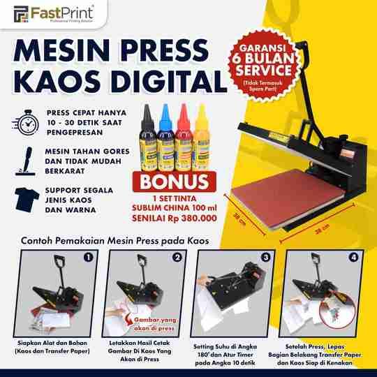 mesin press kaos