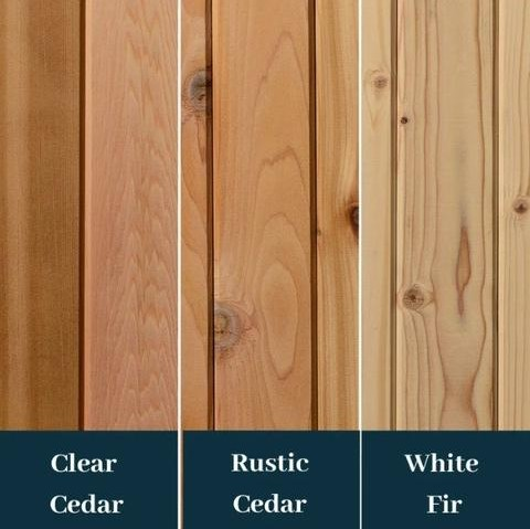 Different Wood Types for Saunas