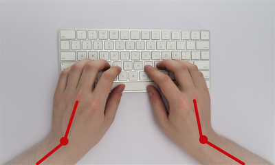 Poor wrist angle for typing