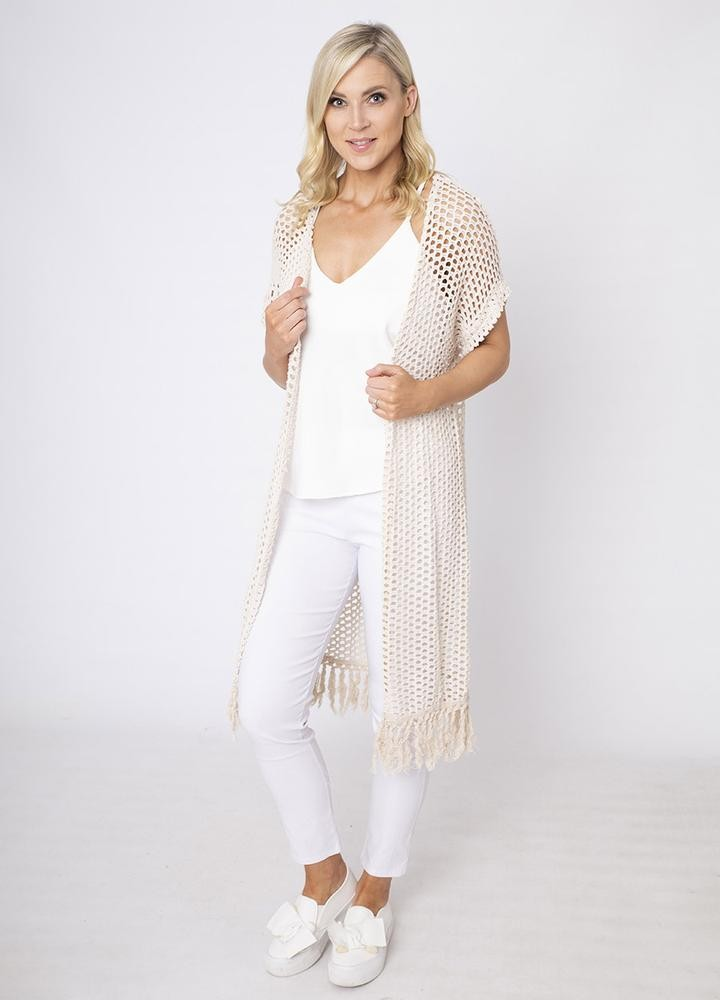 Long Honeycomb Cardi