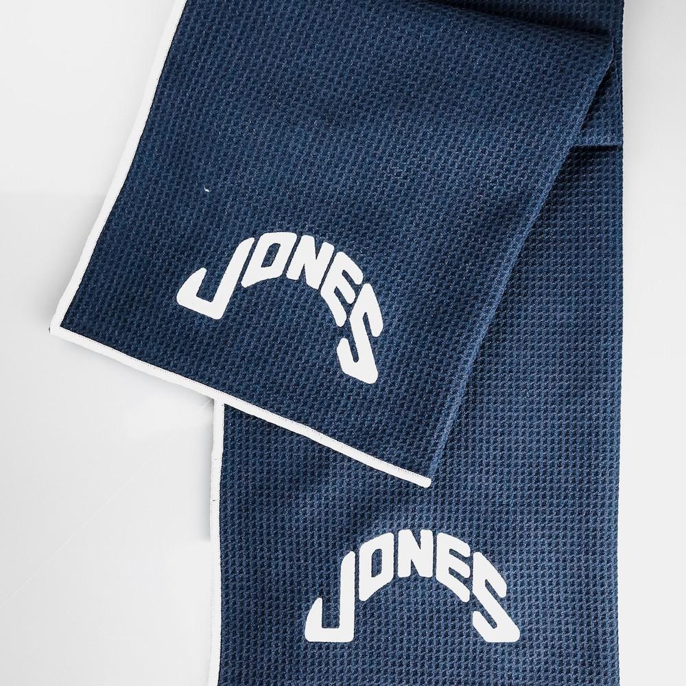 Jones Caddy Golf Towel - Navy/White