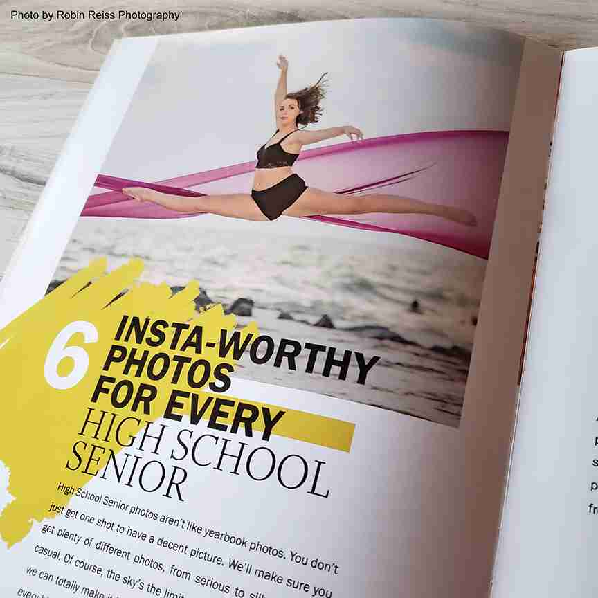 Senior Portrait Magazine Template