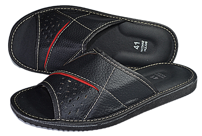 Jaxson mens Leather Slippers - Reindeer Leather