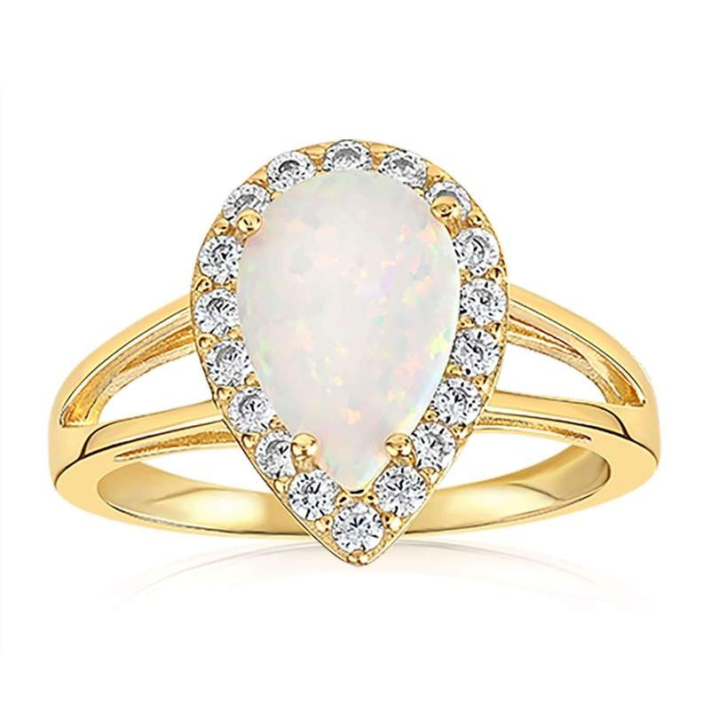 Champagne opal ring