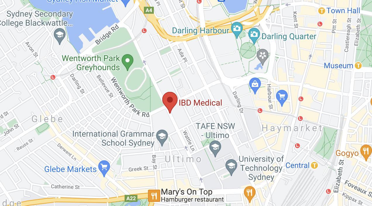 IBD location map