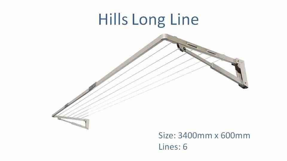 3300mm wide clothesline - austral slenderline 20
