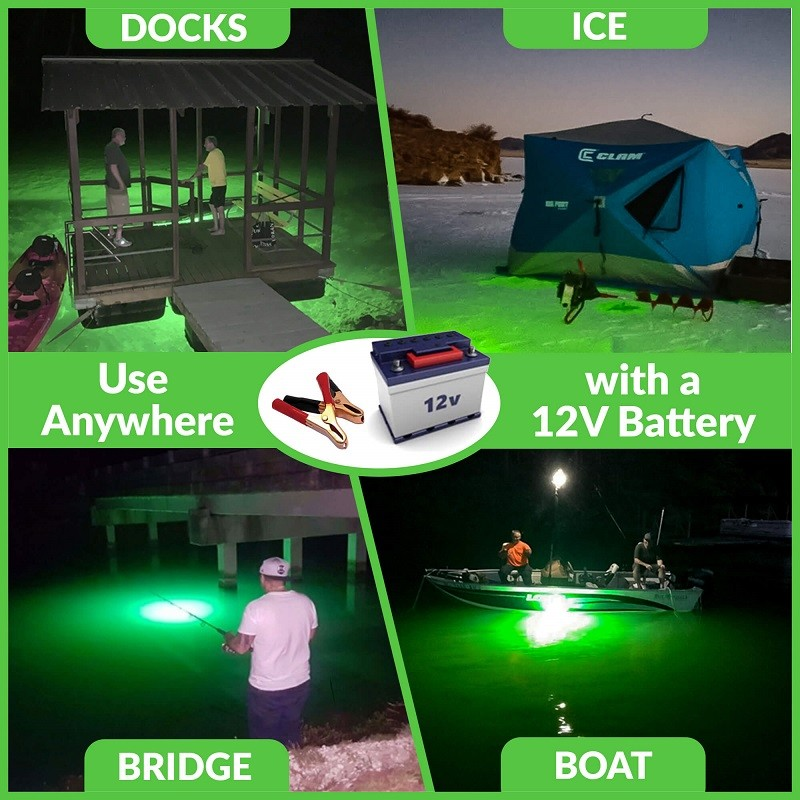12v Mini Britebite LED fishing lights use anywhere
