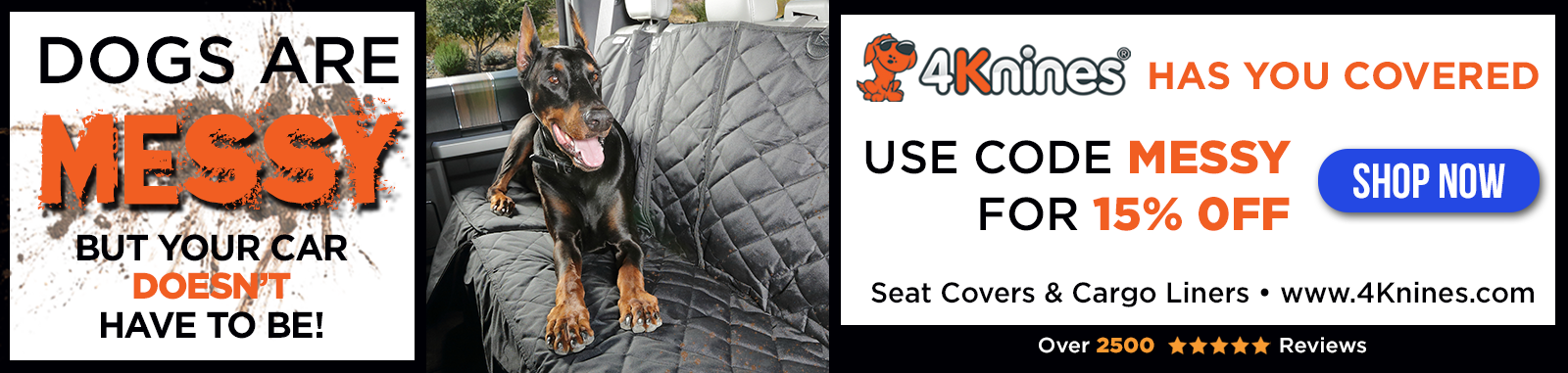 4Knines Car Seat Covers and Cargo Liners