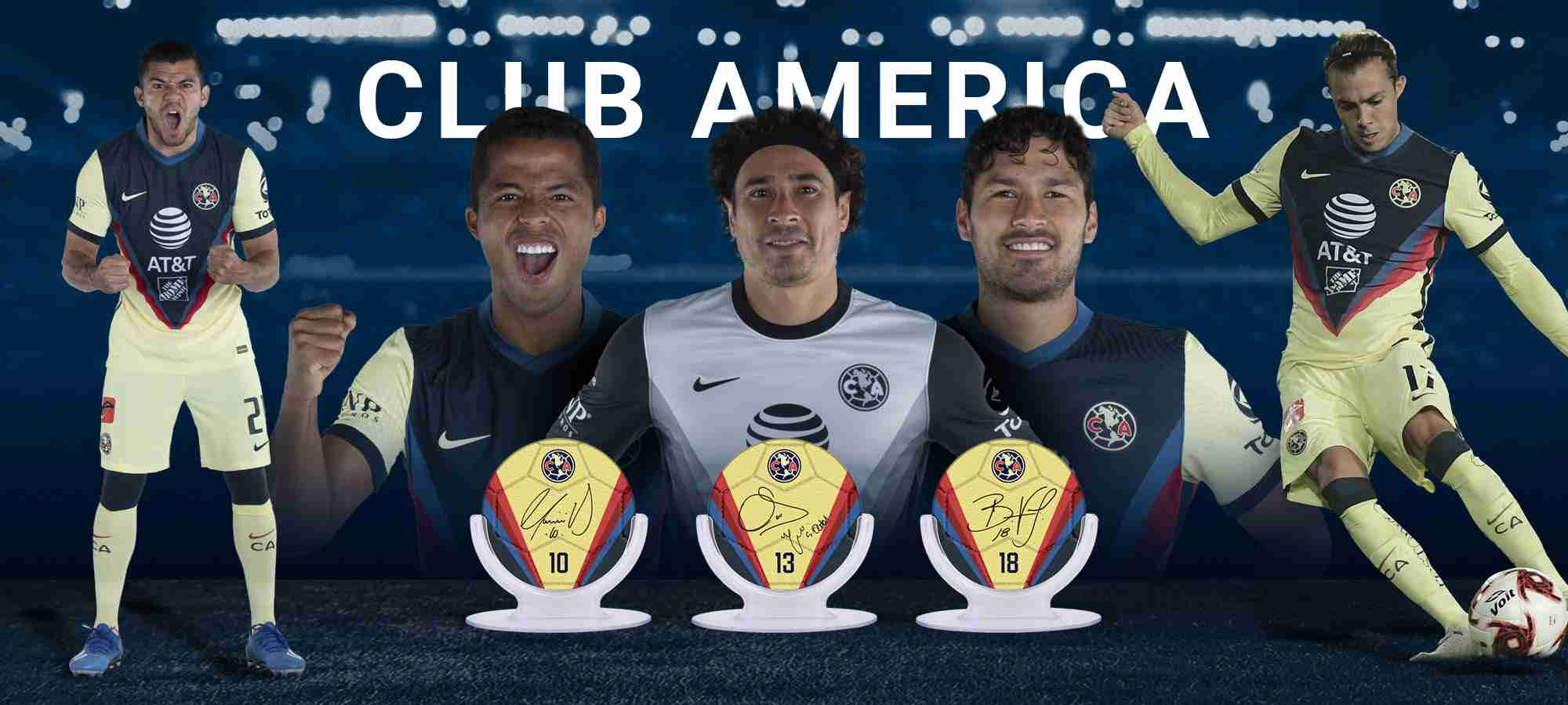 Club America Signables Collectibles Collection