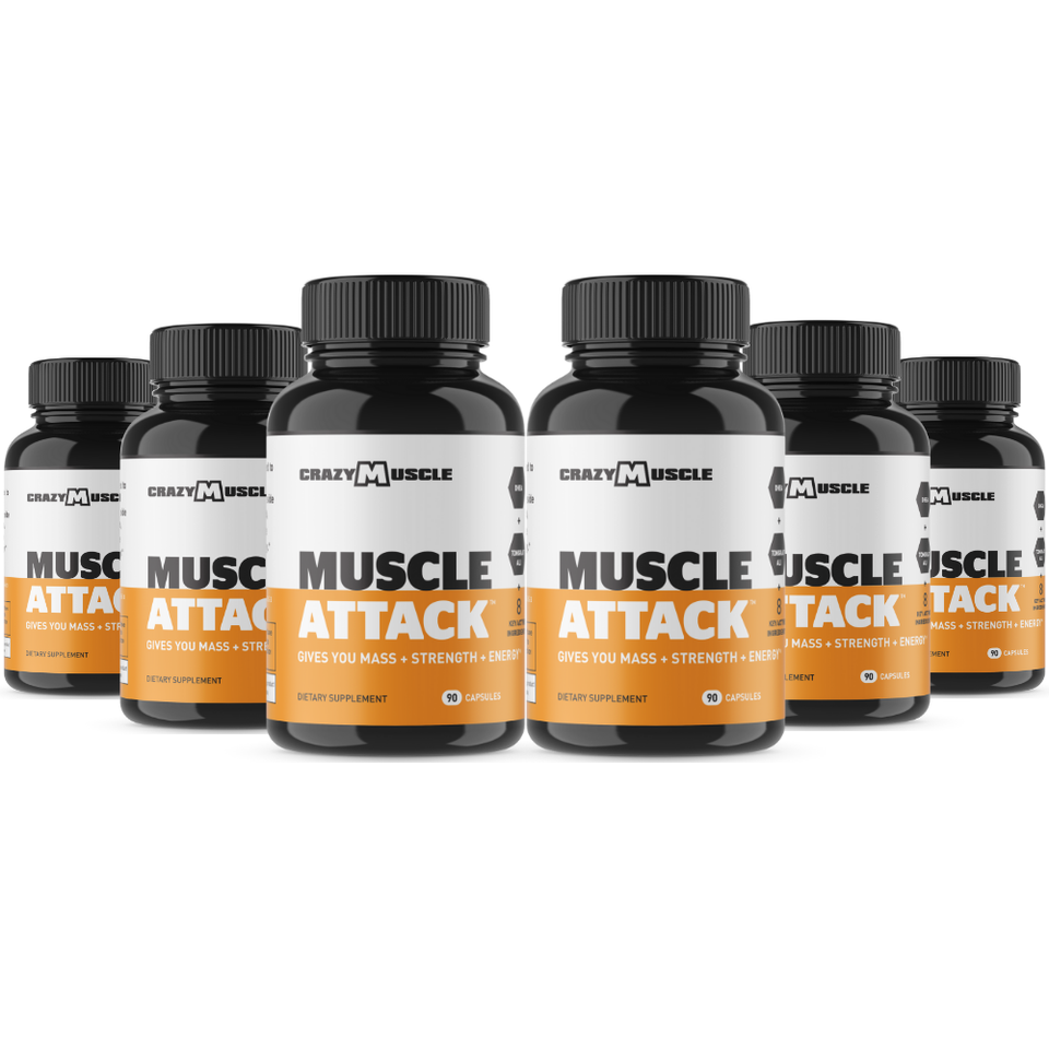 Muscle Attack - 6 Bottles