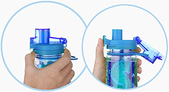Infuser Water Bottle 25oz - Azure Blue - Flip Top