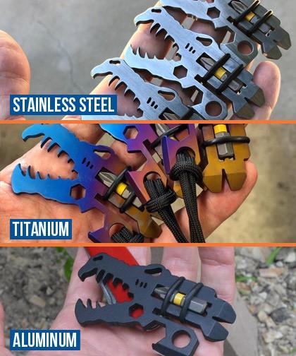 Jurassic Croc everyday carry Multi Tool Materials