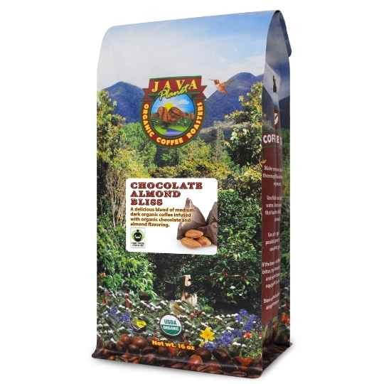 best organic flavored coffee Chocolate Almond fair trade certified