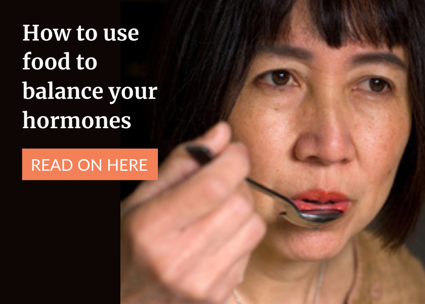 how to use food to balance hormones banner mobile