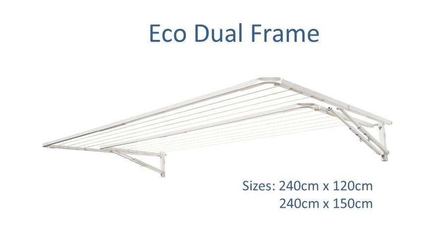eco dual frame 250cm wide clothesline dimensions