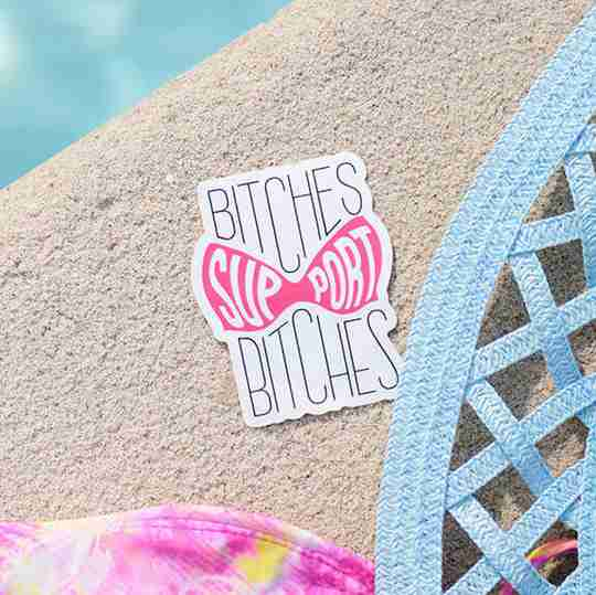 Bitches Support Bitches | Adult Humored Sticker Designs | Twisted Wares®