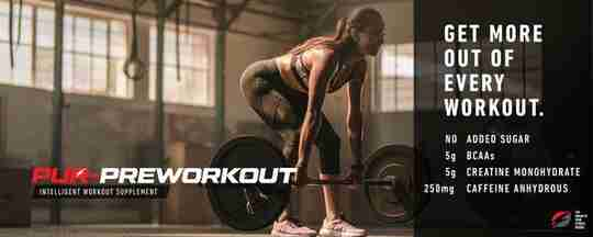 Woman Exercising in Gym Lifting Weights Pur-Preworkout Get more out of every workout