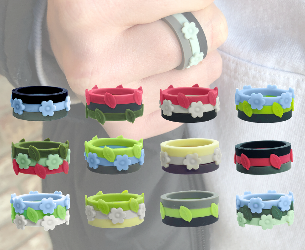 Alpine Vista Bundle Pack makes more than 600 combinations hand wearing one and 12 other 3 ring combinations shown as well