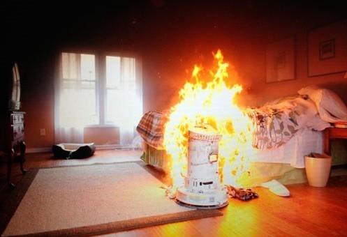 bedroom on fire Fire Blanket