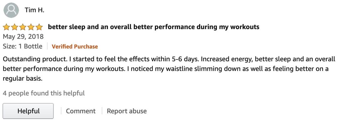 Amazon Testimonial