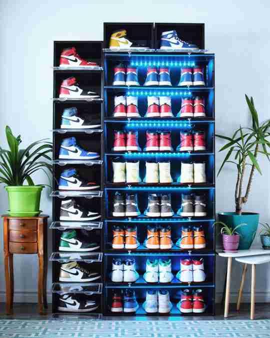 Chris Chiu Sneaker Throne Shoe Display