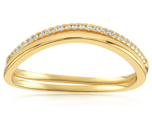 Gold ring ornamented by small gems