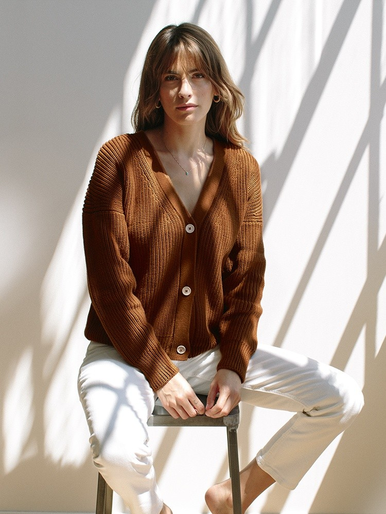 The Shelter Cardigan Burnt Sienna