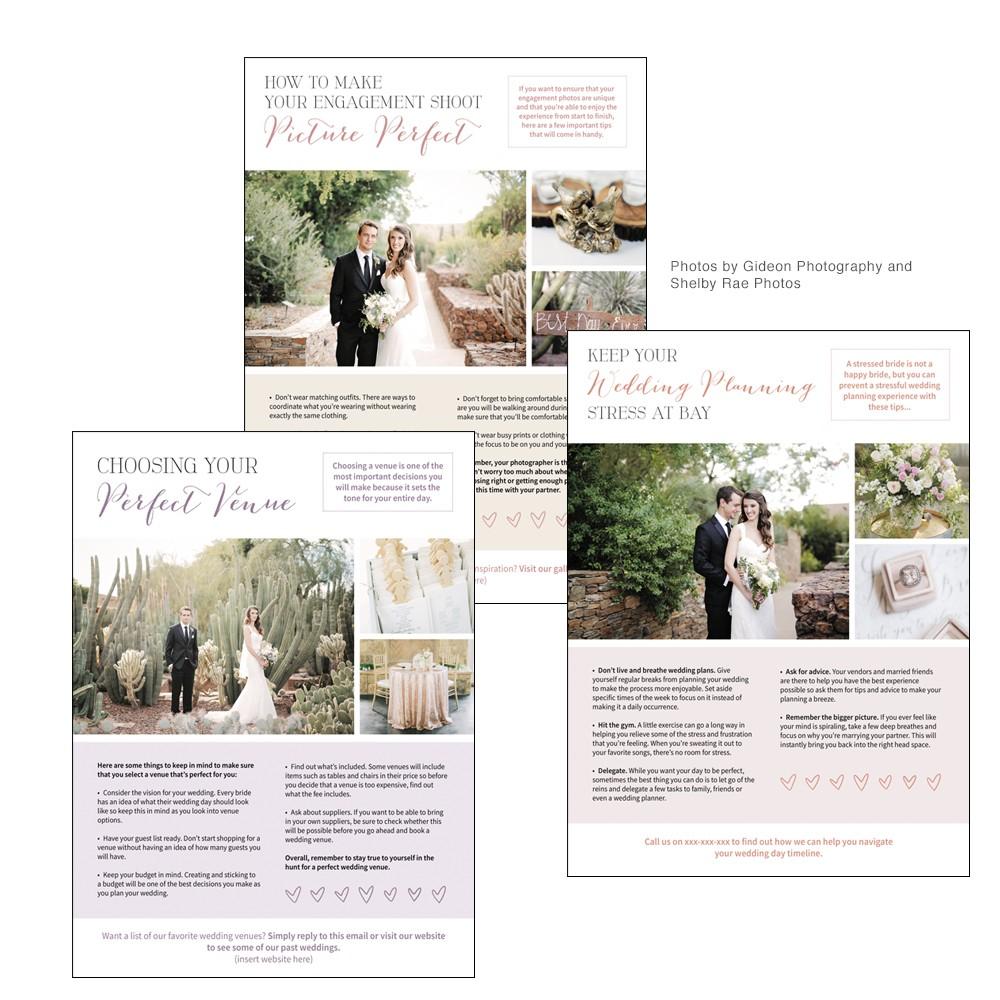 Wedding Photography Newsletter Template