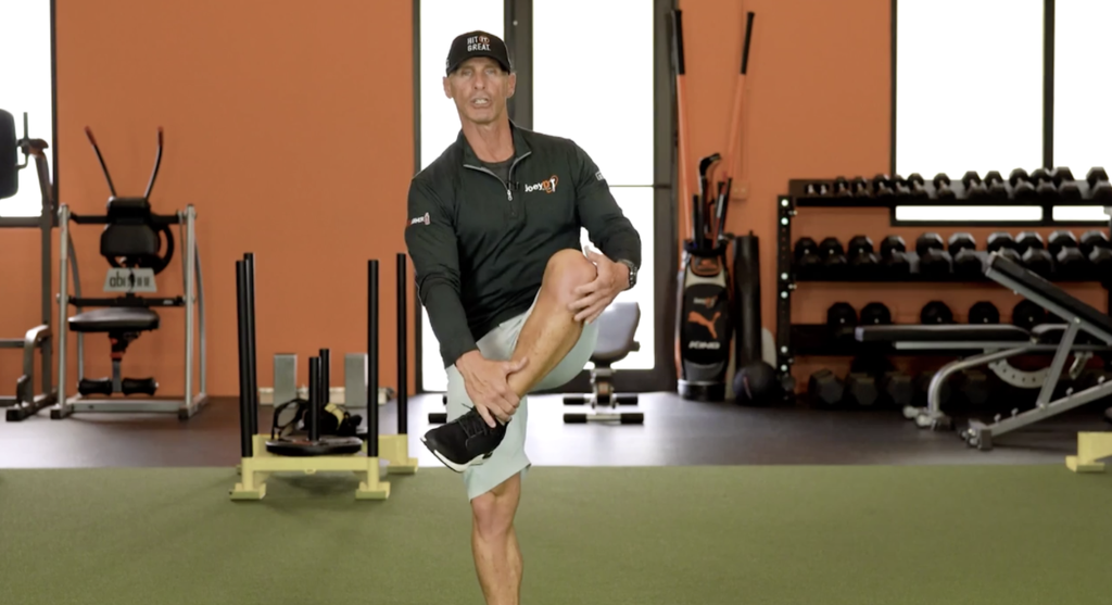 Birdie Town Exclusive Offer - Joey D shares the hip walk in a FREE Golf Warm-up video