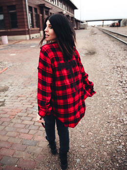 The Amy Red Plaid Button Down