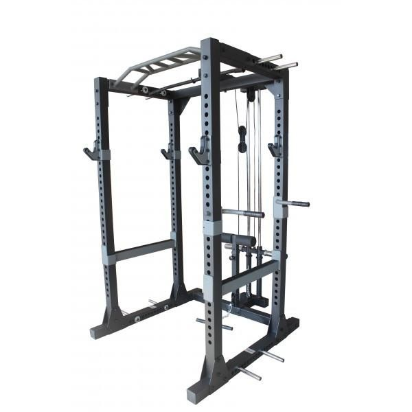 PRIMAL COMMERCIAL POWER RACK WITH LAT ATTACHMENT
