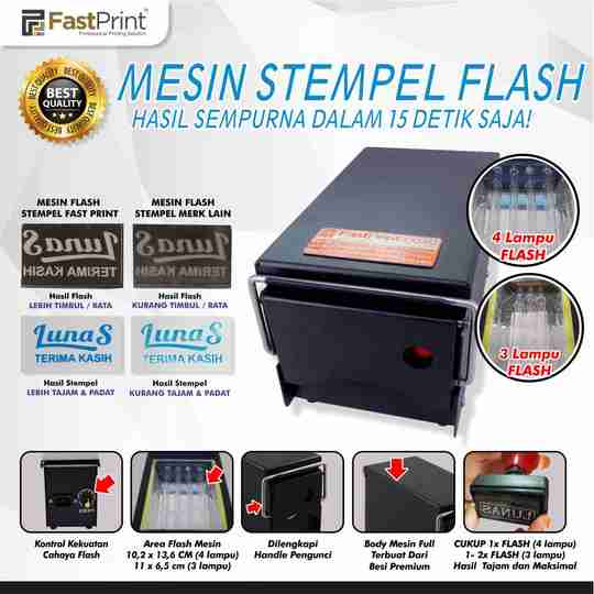mesin stempel flash
