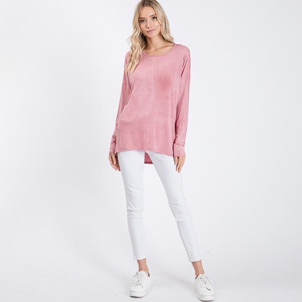 Ella A Line Vintage Pink Top